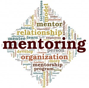 Mentoring concept in tag cloud